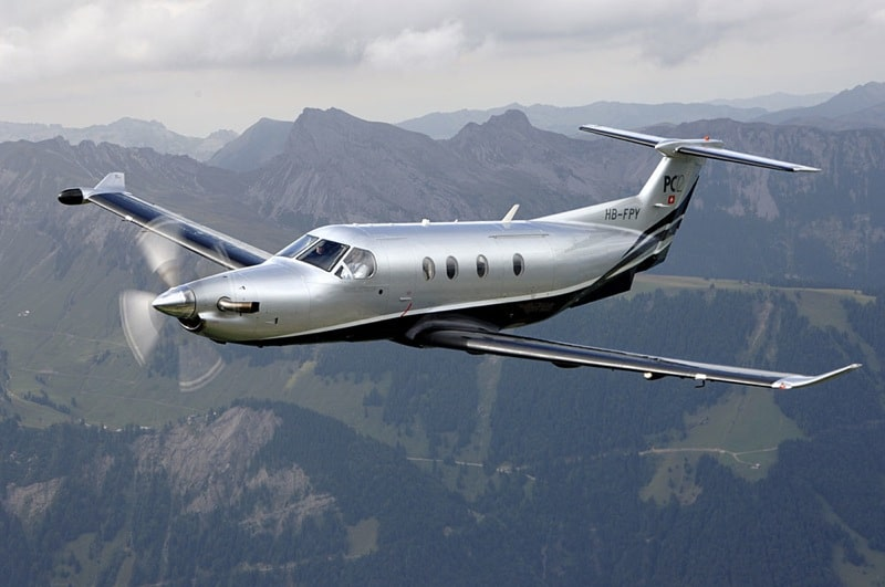 Privat fly - Pilatus-PC-12-In-Flight